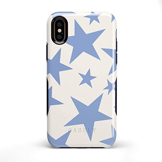 Amazon.com: Casely iPhone X/XS Phone Case - Stars Align   Blue .