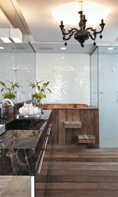 45 Stylish And Cozy Wooden Bathroom Designs - DigsDi