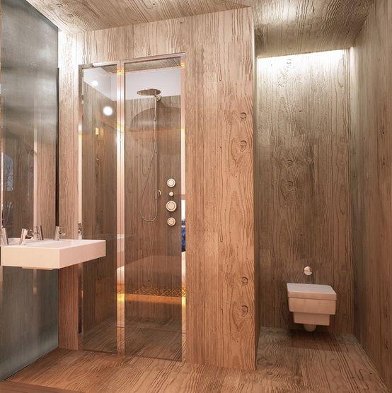 45 Stylish And Cozy Wooden Bathroom Designs | Bathroom design .