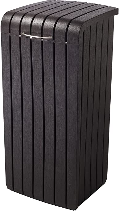 Amazon.com: Keter 232126 Large Trash Can with Lid for Patio and .
