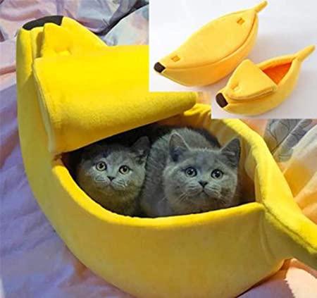 Amazon.com : Glumes Stylish Pet Dog Cat Banana Bed House Pet Boat .