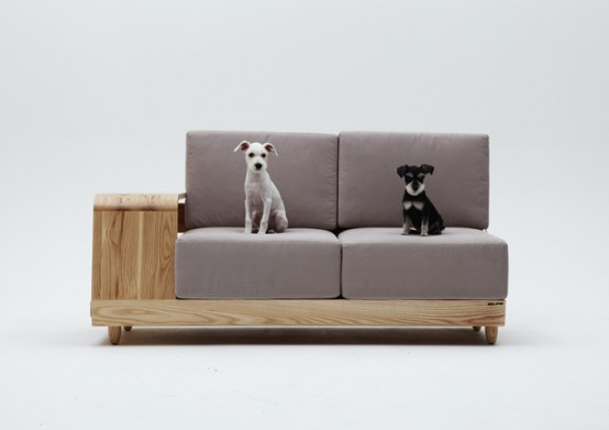 Stylish Be With Me Sofa With A Dog House - DigsDi