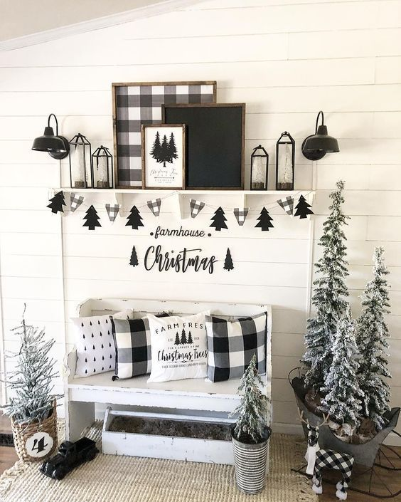 50 Black and White Christmas Decoration Ideas to Create an .