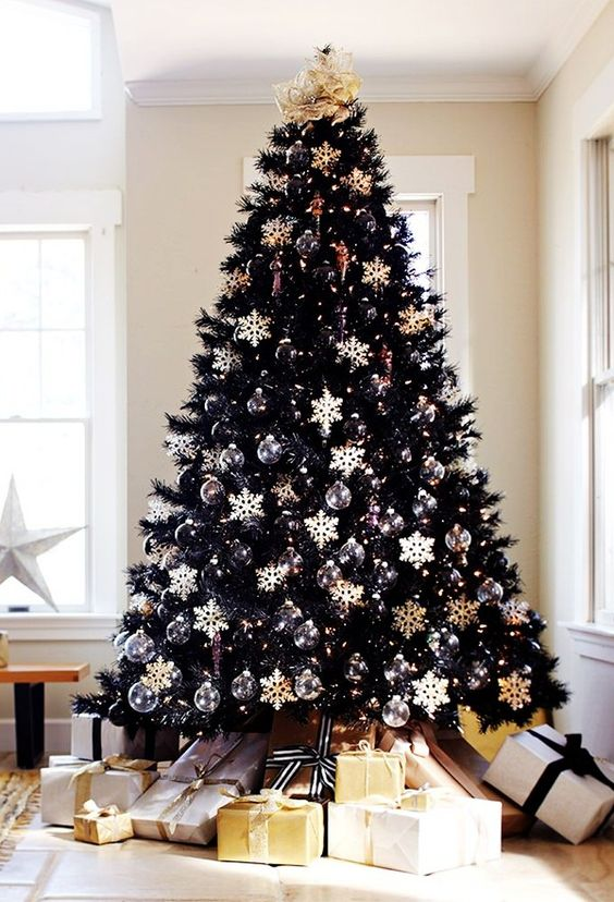 22 Unique Black Christmas Tree Décor Ideas - DigsDi