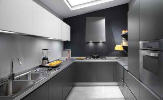Modern minimalist grey kitchen ideas by Ernestomeda - Home Design .