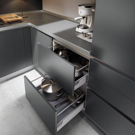 Sleek Kitchen Design Ideas by Ernestomeda   Modern grey kitchen .
