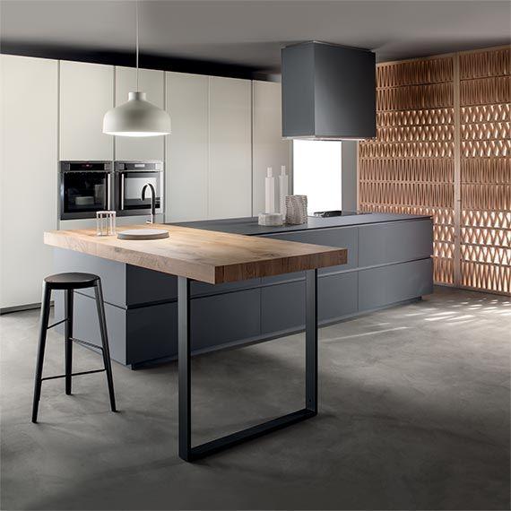 Italian Modern Design Kitchens - Obliqua by Ernestomeda   Modern .