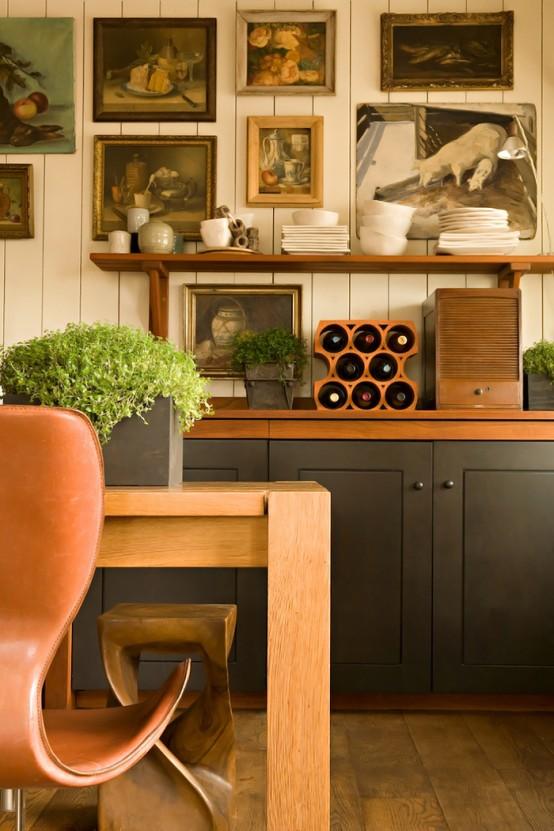Stylish Kitchen Design In Warm Shades - DigsDi