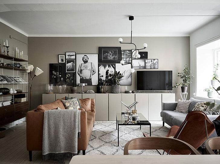 Stylish Scandinavian apartment in warm tones 〛 ◾ Фото ◾Идеи .