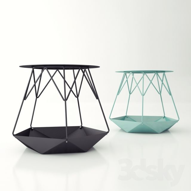 3d models: Table - Coffee table KRATER | Minimalist furniture .