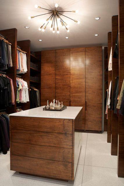 43 Stylish Masculine Closet Designs | Walk in closet design .