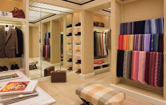 43 Stylish Masculine Closet Designs | Dressing room design, Closet .