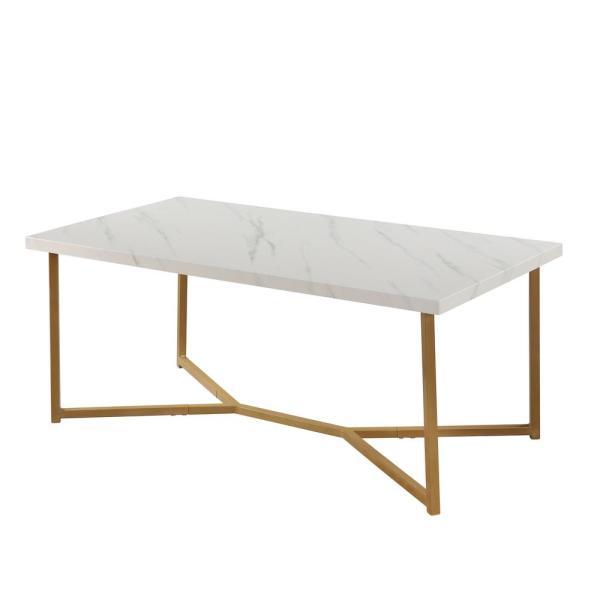 Boyel Living Mid Century Modern Rectangle Wooden Coffee Table .