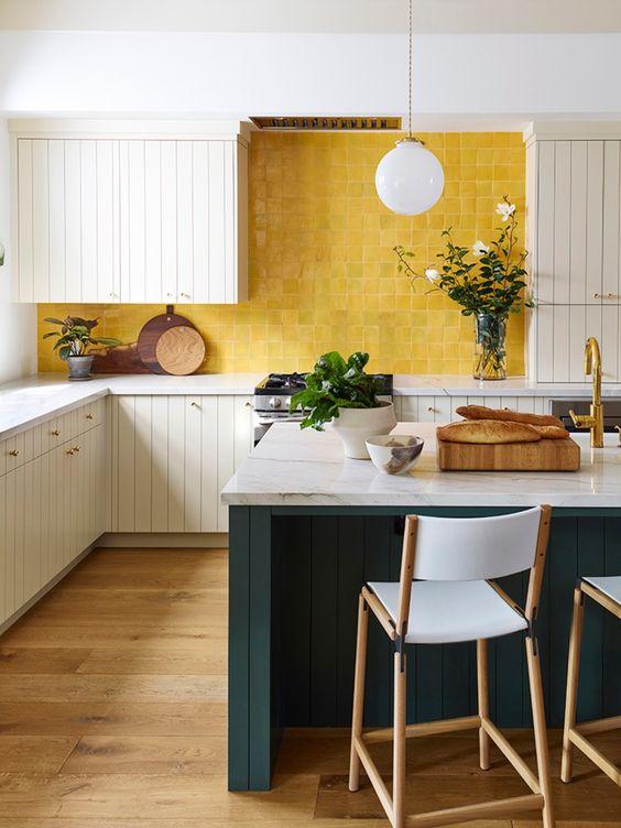 25 Vivacious Yellow Kitchen Decor Ideas - Shelterne
