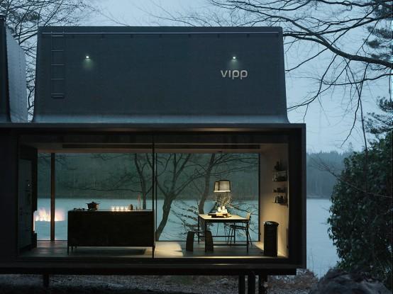 Stylish Minimalist Prefab Vipp Home In Dark Shades - DigsDi