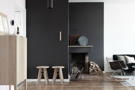 I wish I lived here: a monochrome home in Stockholm   Interior .