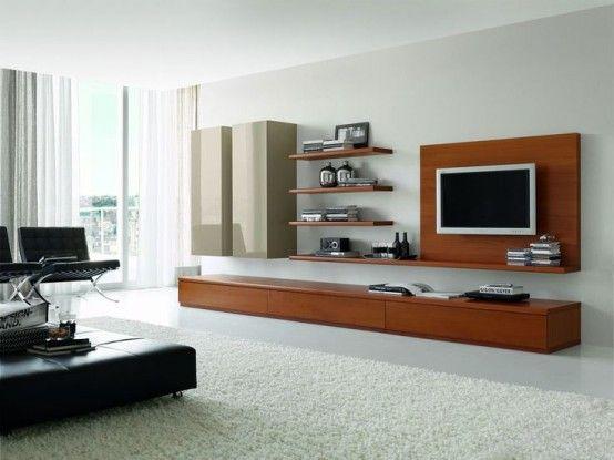 32 Stylish Modern Wall Units For Effective Storage | Wall unit .