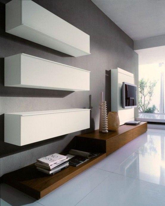 32 Stylish Modern Wall Units For Effective Storage | Muebles de .
