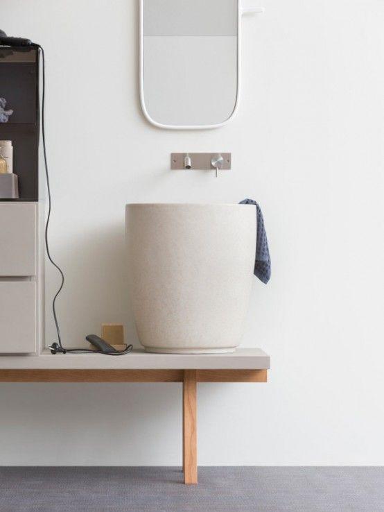 Stylish Modular Esperanto Bathroom Furniture Collection   Modern .