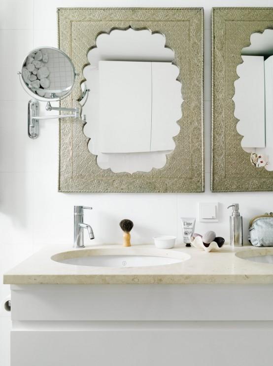 Stylish Small Bathroom With An Unusual Decor - DigsDi