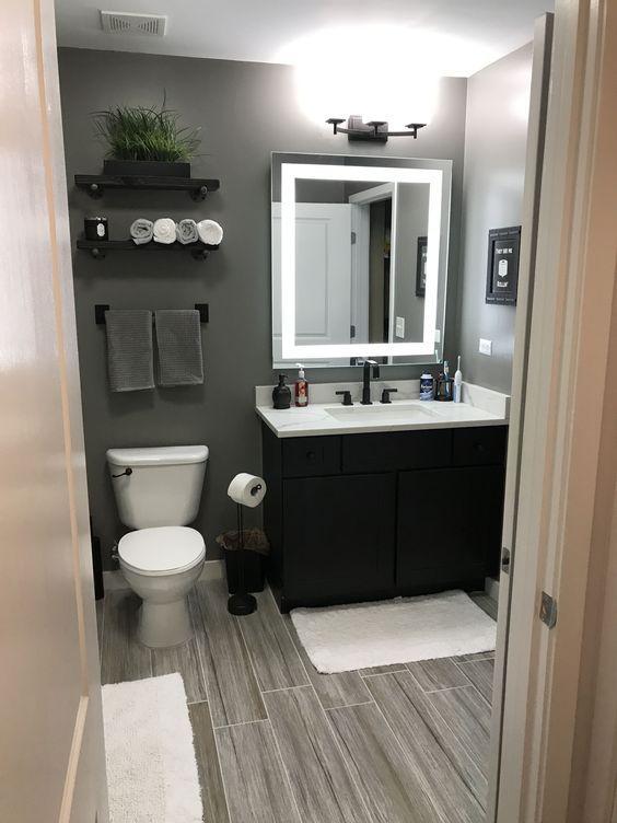 gray bathroom ideas; Scandinavian Bathroom Ideas; modern bathroom .