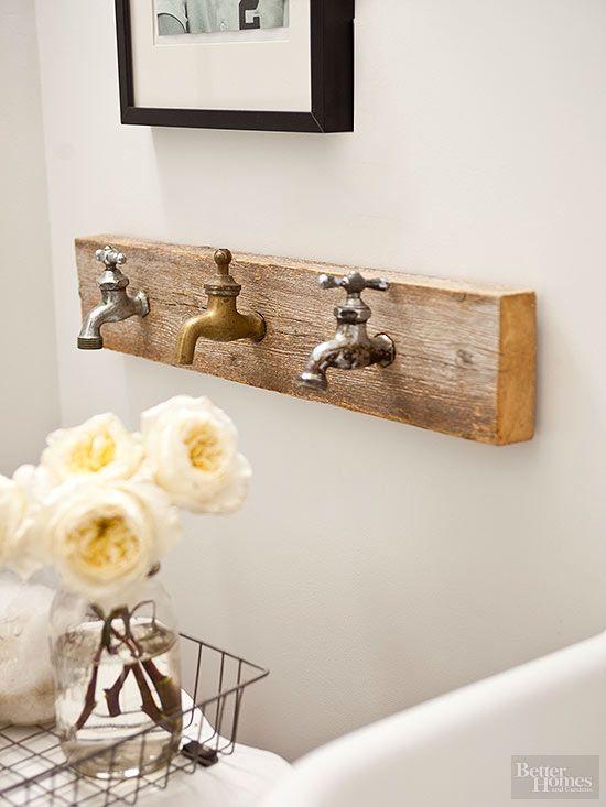 Rustic Bathroom Ideas | Rustic bathroom decor, Country chic decor .