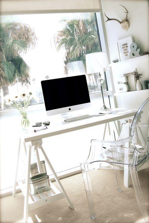 37 Stylish, Super Minimalist Home Office Designs | Projeto de home .