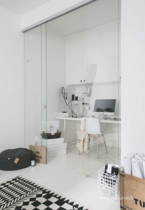 37 Stylish, Super Minimalist Home Office Designs | Home office .