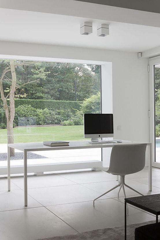 37 Stylish, Super Minimalist Home Office Designs - DigsDi