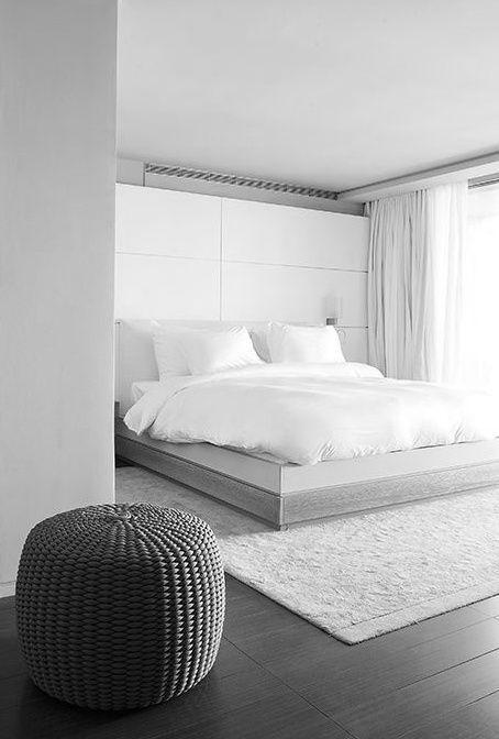 stylish-minimalist-bedroom-design-ideas-5. | White bedroom design .