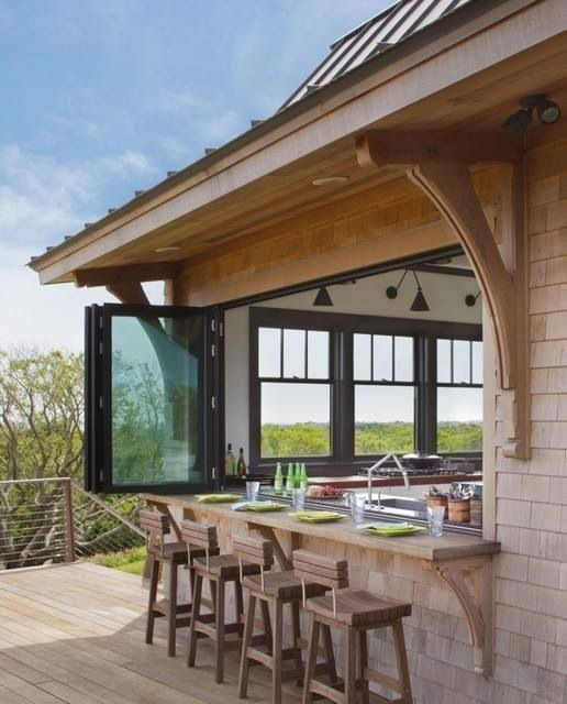 Summer Must: 35 Adorable Kitchens Open To Outdoors   Country .