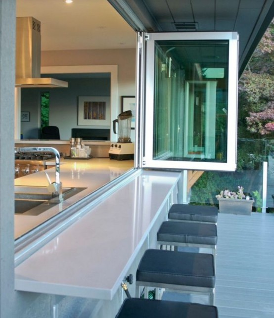 Summer Must: 35 Adorable Kitchens Open To Outdoors - DigsDi