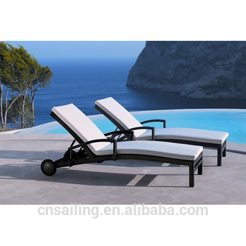 Lightweight Portable Sun Lounger Poolside Lounge Chair Chaise .
