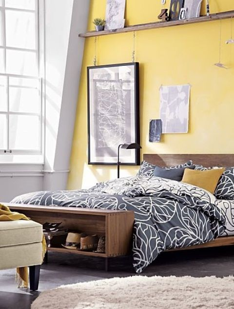 Sunny Yellow Accents In Bedrooms – 49 Stylish Ideas   DigsDigs .