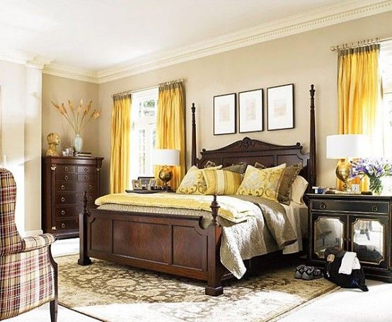 Sunny Yellow Accents In Bedrooms – 49 Stylish Ideas   Yellow .