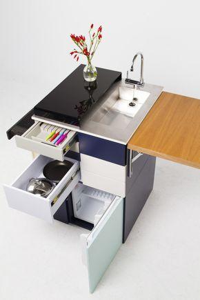 Cozinha compacta ideal para estúdios | Cozinha compacta, Design de .