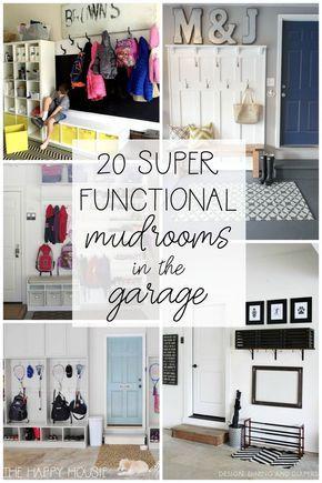 20 Super Functional DIY Garage Mudrooms | The Happy Housie | Mud .