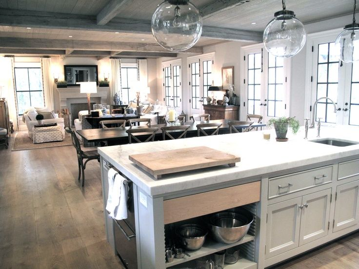 Open kitchen and living room | Open kitchen and living room .