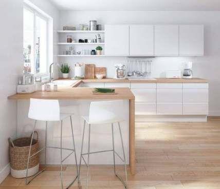 38+ Super Ideas For Kitchen White Design Modern Woods   Kitchen .