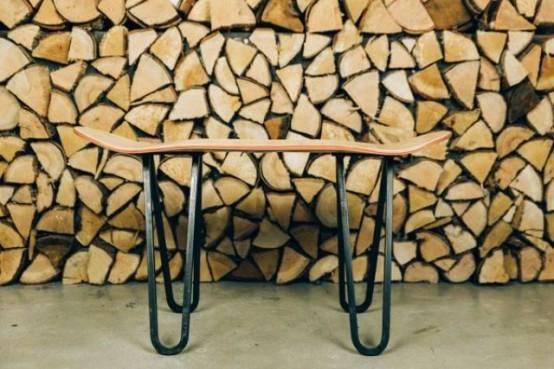 Super Original Handmade Skateboard Tables Collection - DigsDi