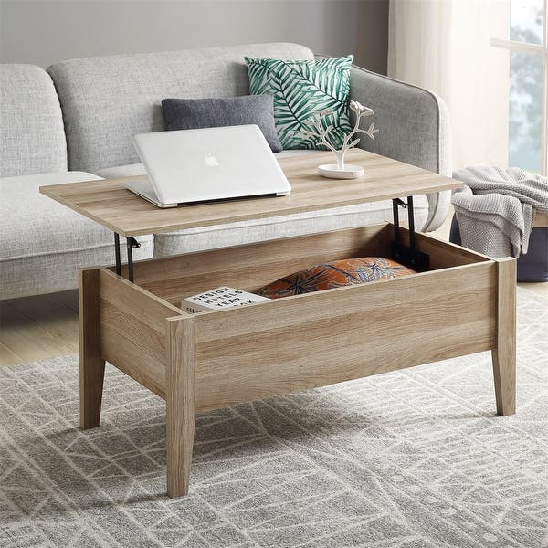 Shop Merax Lift Top Coffee Table with Hidden Storage - On Sale .
