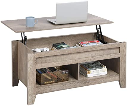 Amazon.com: YAHEETECH Lift Top Coffee Table with Hidden Storage .