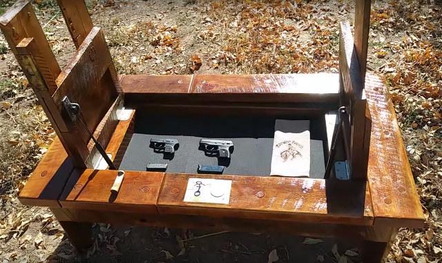 Coffee Table With Hidden Storage Used To Conceal Handguns - Geekolog