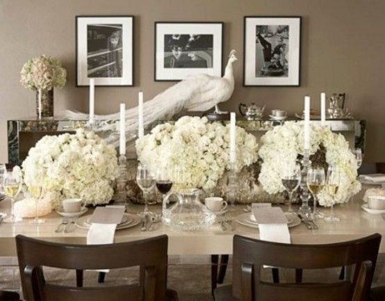 35 Tender White Thanksgiving Décor Ideas   Dinner table setting .