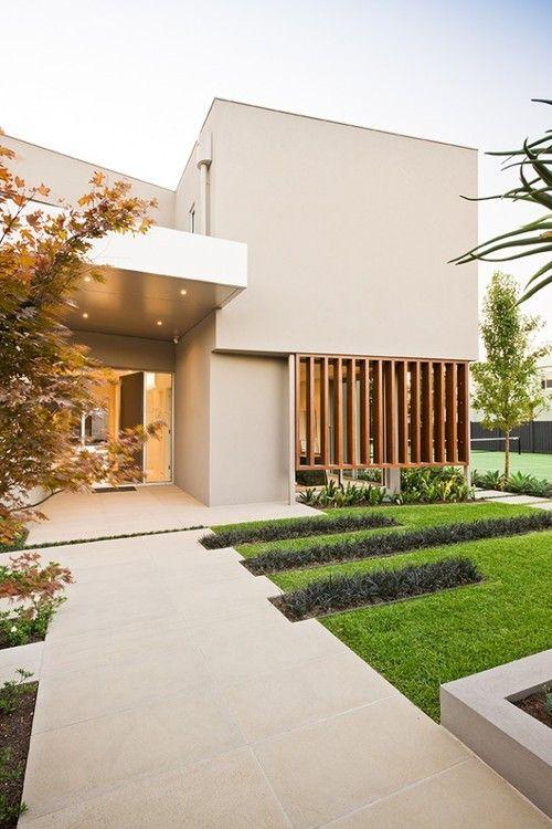 Warm minimalist landscape design. | Minimalist architecture .