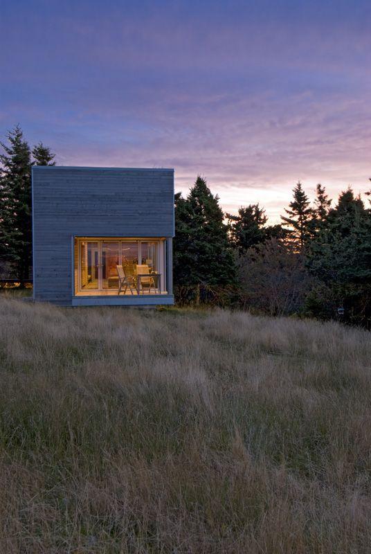 Warm minimalism for serene spa pavilion in Nova Scotia .