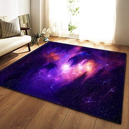 Amazon.com: MATGHN Starry Sky Area Rugs, Home 3D Cosmic Galaxy Non .