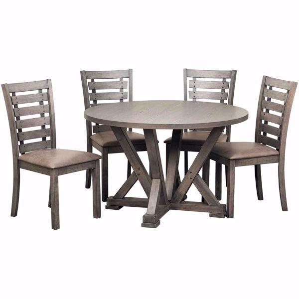 Fiji 5 Piece Dining Set | D841-13TBL/61(4) | Progressive Furniture .