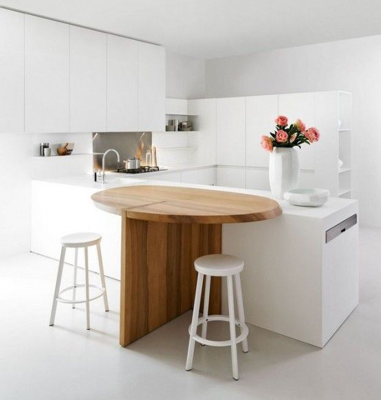 Thoughtful Minimalist White Kitchen For Small Spaces | Keuken .