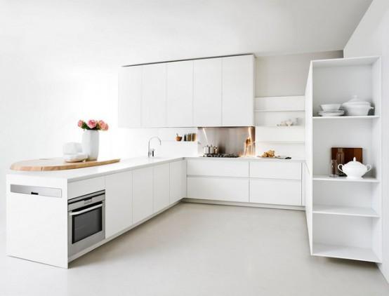 Thoughtful Minimalist White Kitchen For Small Spaces - DigsDi